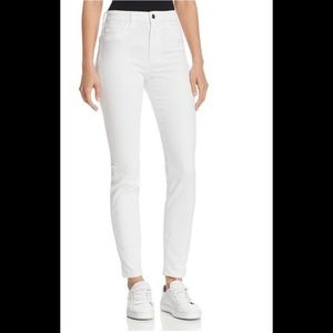 7 for mankind white ankle jeans